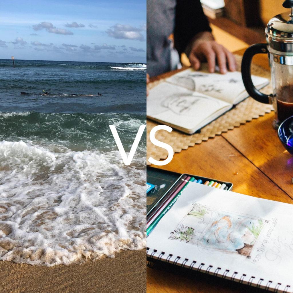 Vacation vs retreat