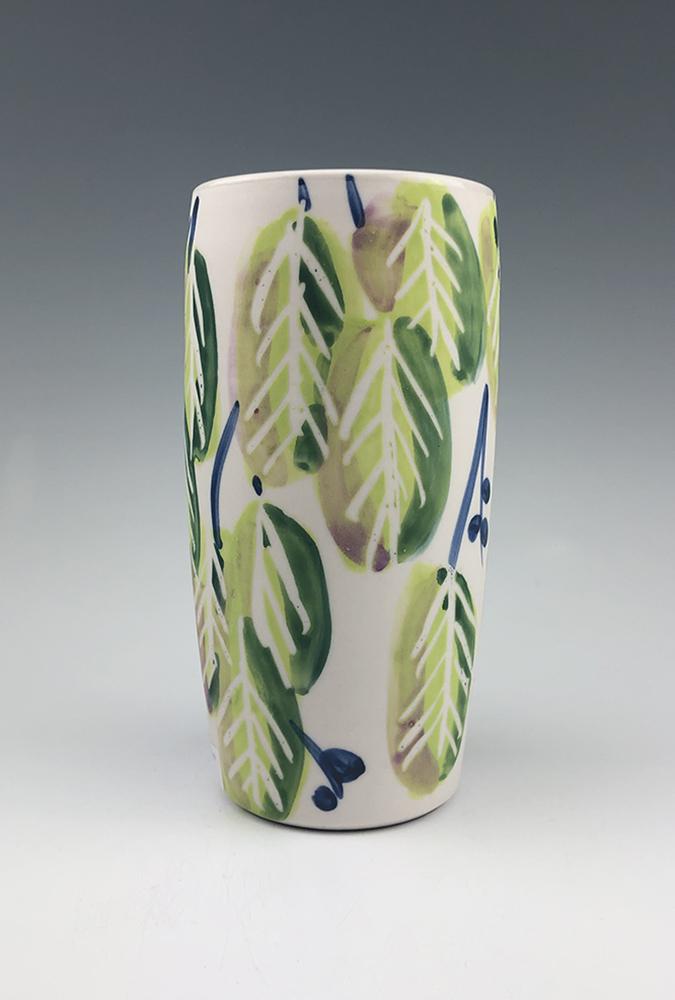 Jenifer C. Vigil - leaf vase