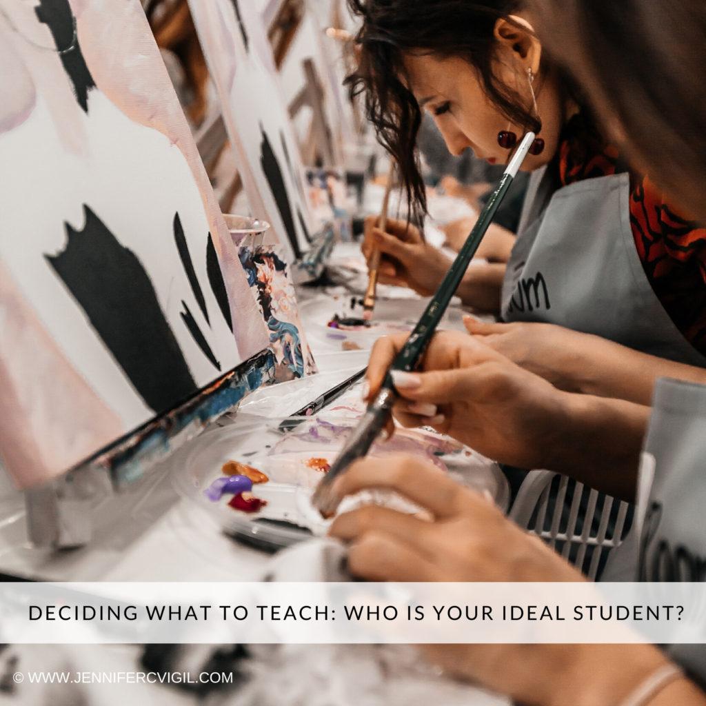 Teaching art online Art students painting