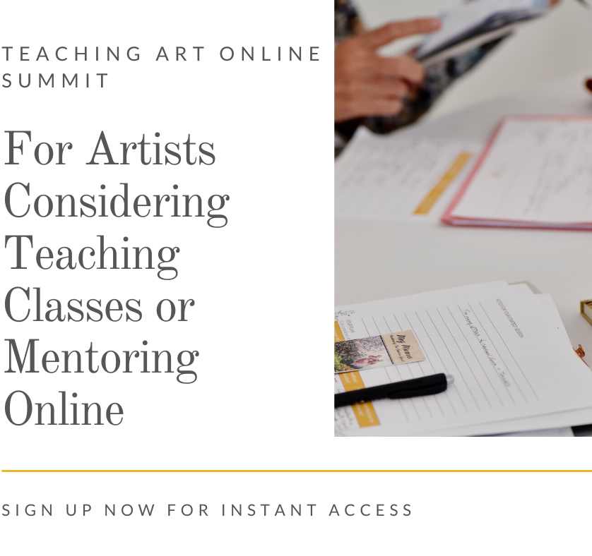 For Artists Considering Teaching Classes or Mentoring Online